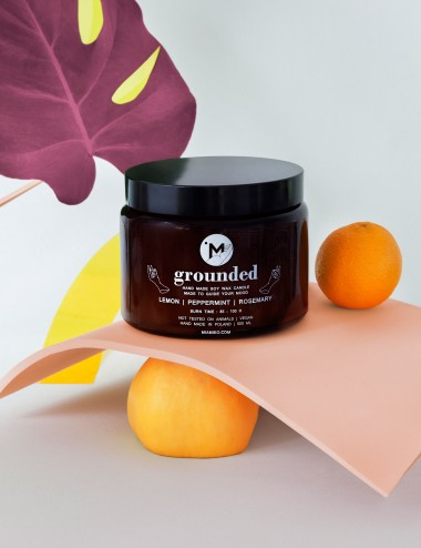 Grouned - 500 ml Aromatherapy Soy Candle